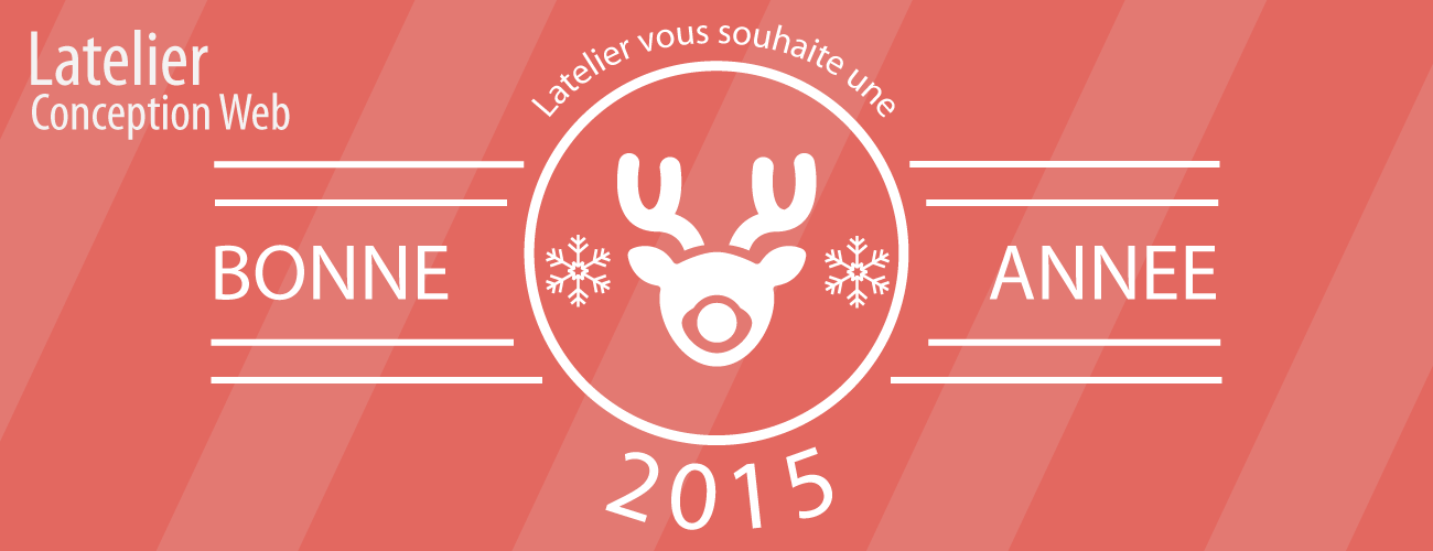 Carte de de voeux 2015 Latelier conception web