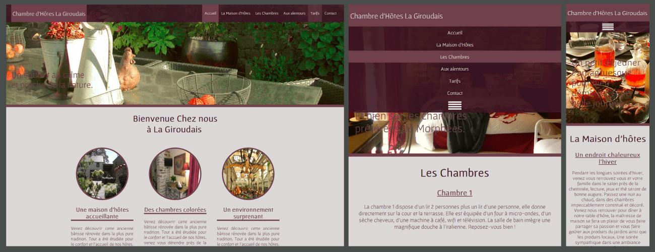 Site internet pour chambres d'hôtes, gîtes ou hôtels de charme